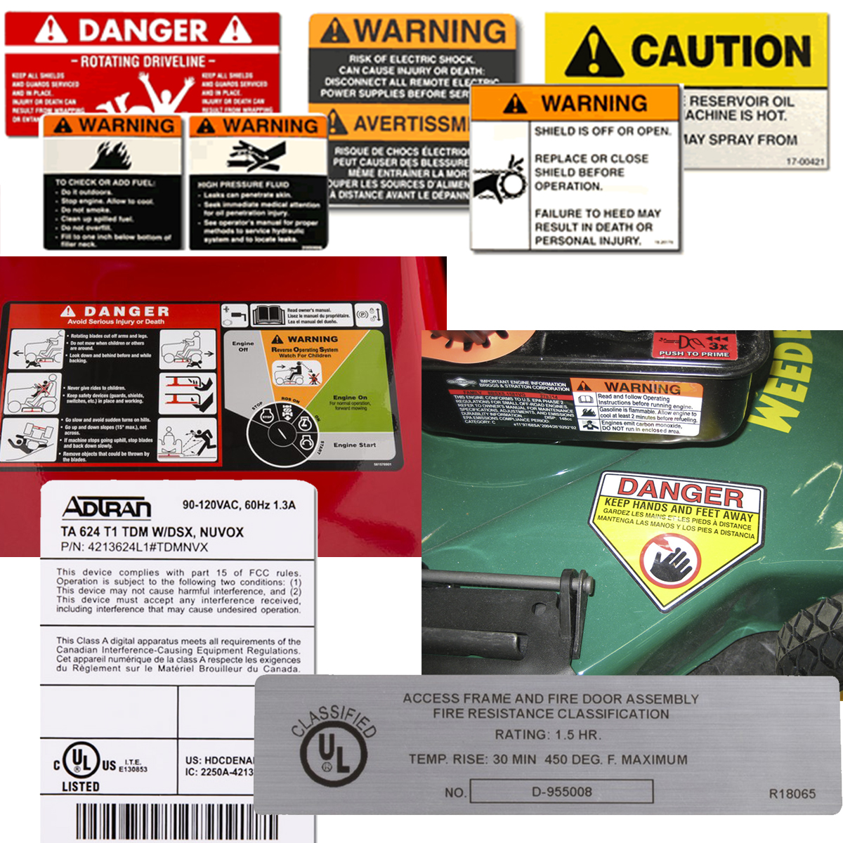 Labels for Durable Product (UL / CSA)